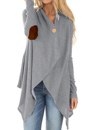 Long Sleeve Other Buttons Capes