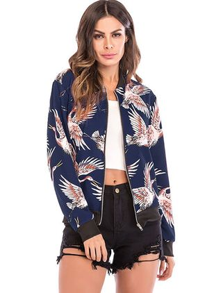 Long Sleeve Other Zipper Coats Jackets