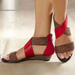 Women's Knit Wedge Heel Sandals (4101673)