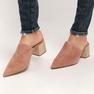 Women's Closed Toe Chunky Heel Slippers (1440378)