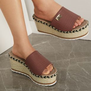 Women's Braided Strap Slingbacks Wedge Heel Slippers (4180667)