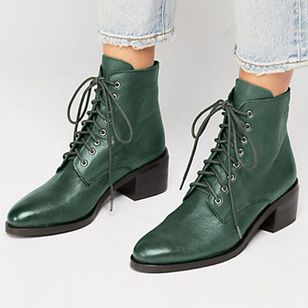 Women's Lace-up Ankle Boots Chunky Heel Boots (1492267)