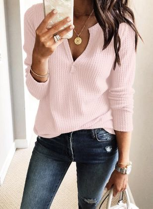 Others Solid Casual Loose Regular None Sweaters