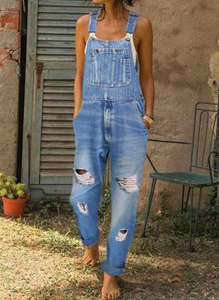 Women's Loose Jeans Pants Jumpsuits (1540294)