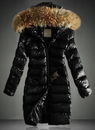 Long Sleeve Hooded Zipper Unremovable Fur Collar Coats (4101671)